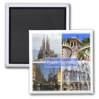 ES * Espanha - Barcelona Ímã Quadrado