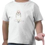 Esboce o desenho da arte - coruja - camisas da t-shirt