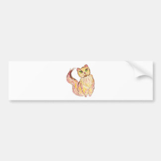 Esboço 3 do gato persa adesivo para carro