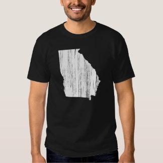 Esboço afligido do estado de Geórgia Tshirt