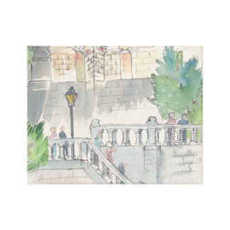 "Esboço aguarela das canvas da ""/castelo de Blois"
