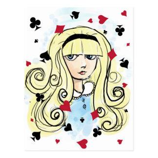 Esboço Alice da aguarela Cartão Postal