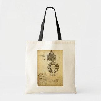 Esboço arquitectónico por Leonardo da Vinci Bolsa Para Compras