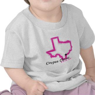 Esboço artístico do estado de Corpus Christi Camisetas
