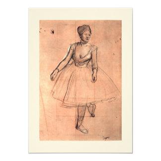 Esboço bonito da bailarina da arte do dançarino de convite 12.7 x 17.78cm