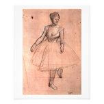 Esboço bonito da bailarina da arte do dançarino de panfletos