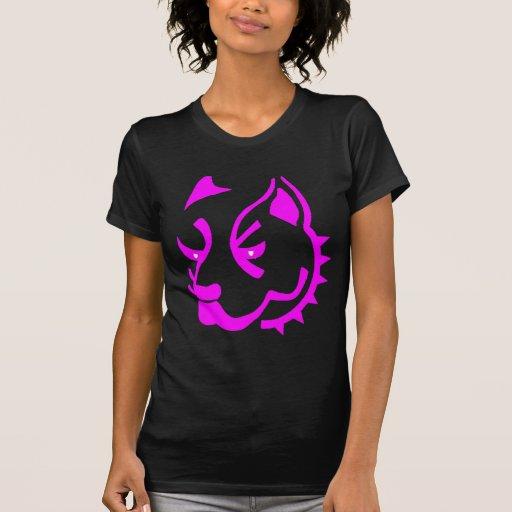 Esboço cor-de-rosa de Pitbull T-shirts