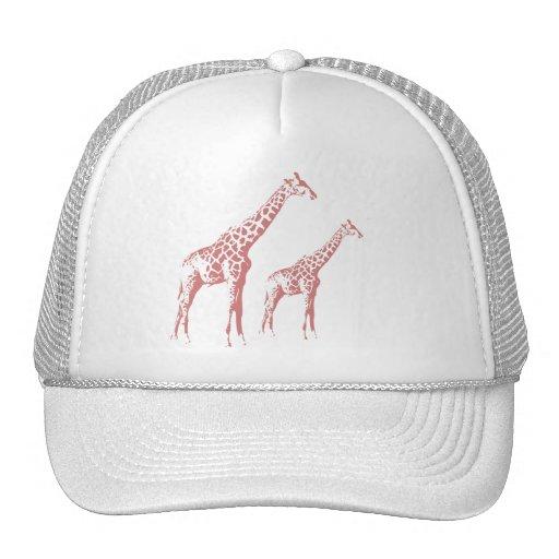 Esboço cor-de-rosa do girafa bone