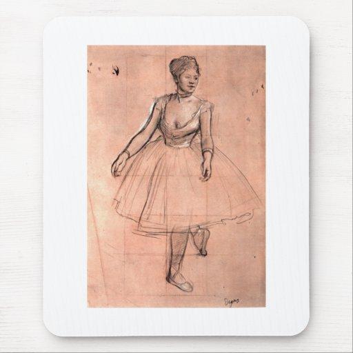 Esboço da bailarina pela arte bonito do dançarino mouse pad