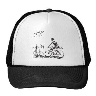 Esboço da bicicleta do andando de bicicleta bonés