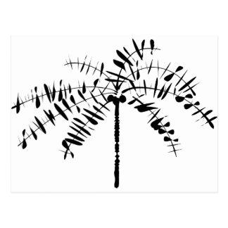 Esboço da palmeira cartão postal