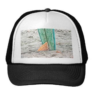 esboço da prancha no design do mar da praia bone