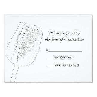 Esboço da tulipa que Wedding o cartão da resposta Convites