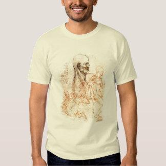 esboço de da Vinci -- Homem e cavalo Camisetas
