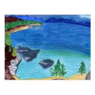 Esboço de Lake Tahoe Cartão Postal