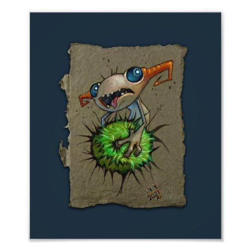 Esboço de papel cinzento: Prendedor, impressão da
