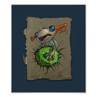Esboço de papel cinzento: Prendedor, impressão da Impressão De Foto