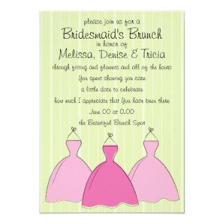 Esboço de três vestidos convite 12.7 x 17.78cm