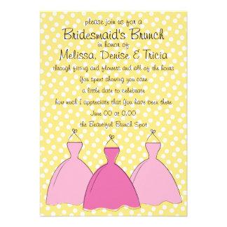 Esboço de três vestidos convites personalizados