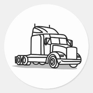 Esboço do caminhão adesivo