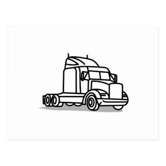 Esboço do caminhão cartão postal