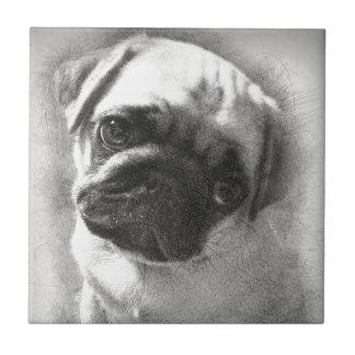 Esboço do cão de filhote de cachorro do Pug
