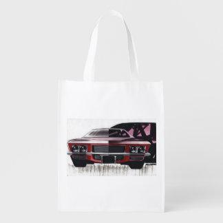 Esboço do carro vintage (47) Riviera 5 Sacola Ecológica Para Supermercado