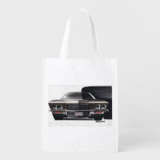 Esboço do carro vintage (50) Riviera 8 Sacolas Ecológicas