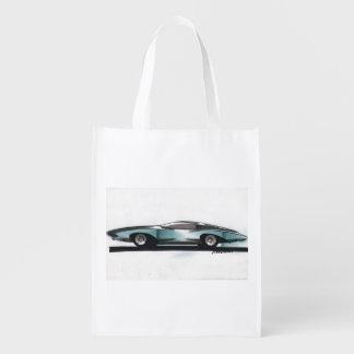 Esboço do carro vintage (7) Chevy 7 Sacola Reusável