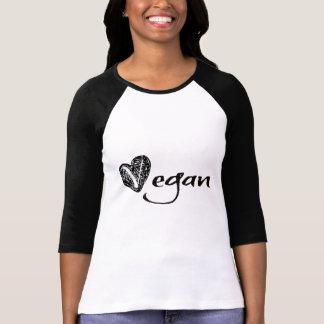 Esboço do coração do Vegan Camisetas