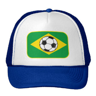 Esboço do futebol da bandeira   de Brasil Boné