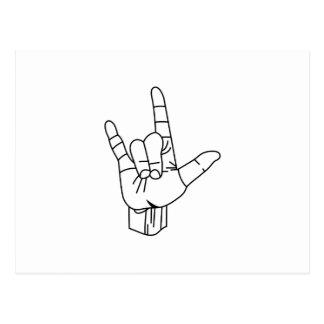 Esboço do linguagem gestual cartão postal