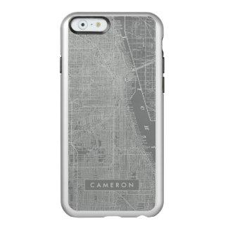 Esboço do mapa da cidade de Chicago Capa Incipio Feather® Shine Para iPhone 6