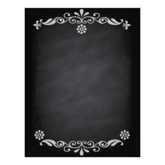 Esboço do quadro-negro floral modelo de panfletos