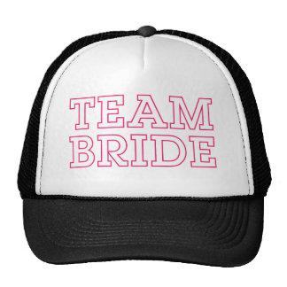 Esboço do rosa da noiva da equipe boné