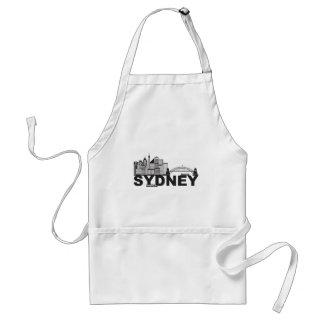 Esboço do texto de Sydney Austrália Sklyine Avental