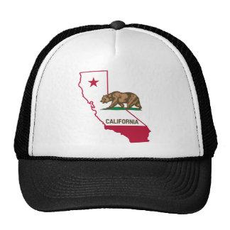 Esboço e bandeira de Califórnia Boné