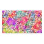 Esboço floral do desenho da aguarela rosa vermelha cartoes de visitas