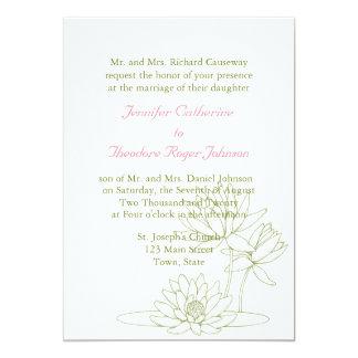 Esboço floral dos convites do casamento do lírio