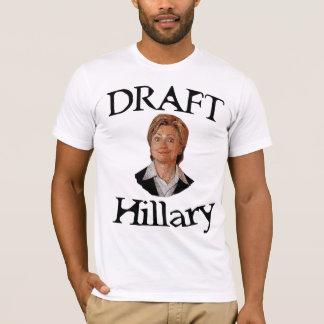 Esboço Hillary Clinton Camiseta