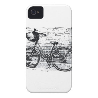 Esboço preto & branco da bicicleta capa para iPhone 4 Case-Mate