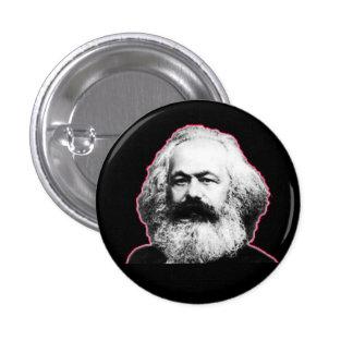 Esboço/preto vermelhos de Karl Marx Bóton Redondo 2.54cm