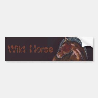 Esboço selvagem do cavalo de Brown com esboços Adesivo Para Carro