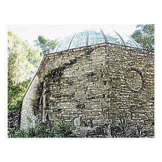 esboço St Augustine da construção do obervatório Panfletos Personalizado