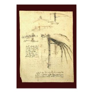 Esboço voado da máquina de vôo por Leonardo da Convite