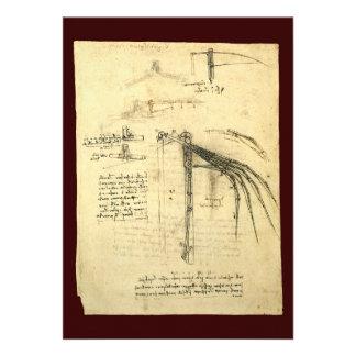 Esboço voado da máquina de vôo por Leonardo da Vin Convite