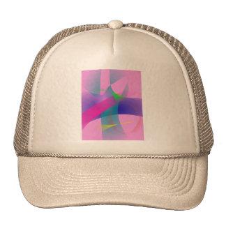 Esboços bem defenidos abstratos cor-de-rosa boné