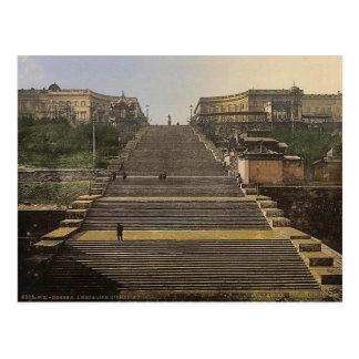 Escada de Richelieu, Odessa, Rússia, (isto é, Cartão Postal