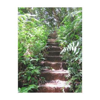 Escadaria ao paraíso impressão em tela