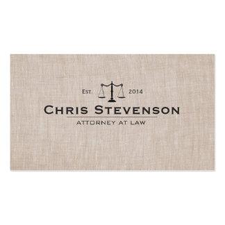 Escala clássica de justiça do advogado masculino cartão de visita